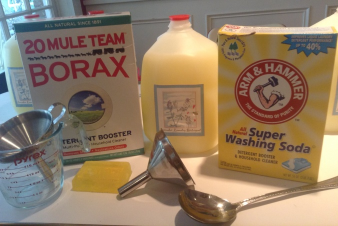 DIY laundry detergent!  Simple, inexpensive and good for the environment