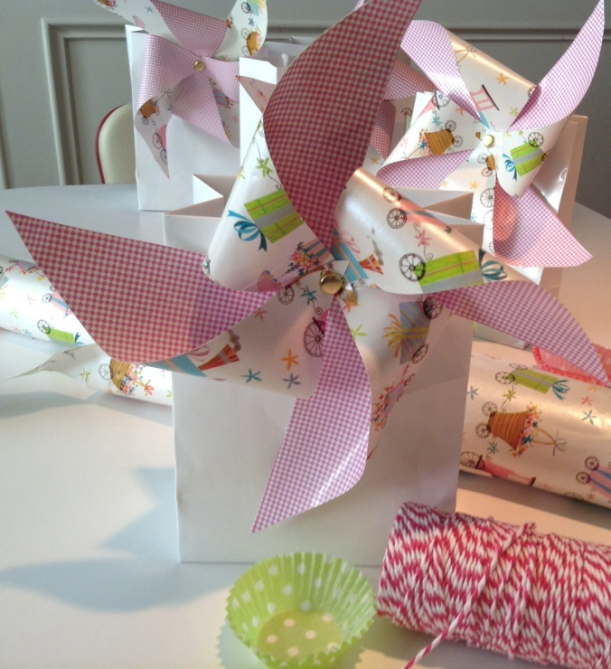 Pinwheel Party Favor bags
